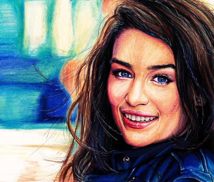 Emilia color drawing by Helene Kupp