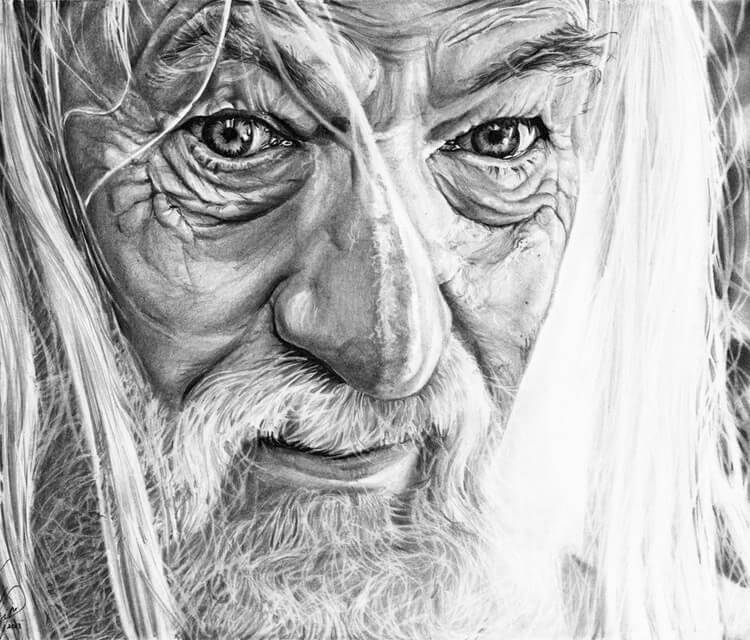 Gandalf drawing by Helene Kupp