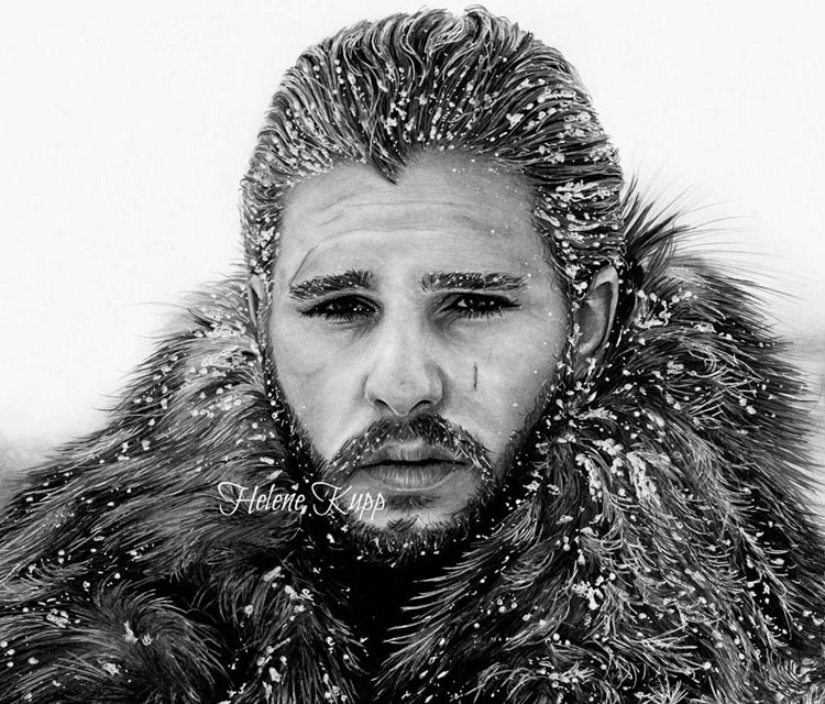 King in the North pencil drawing by Helene Kupp