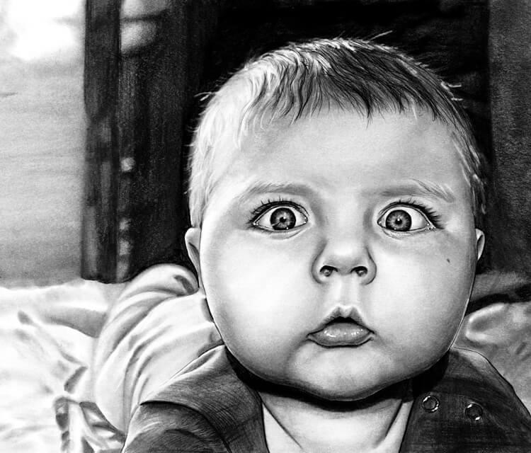 little baby drawing by helene kupp no 2574