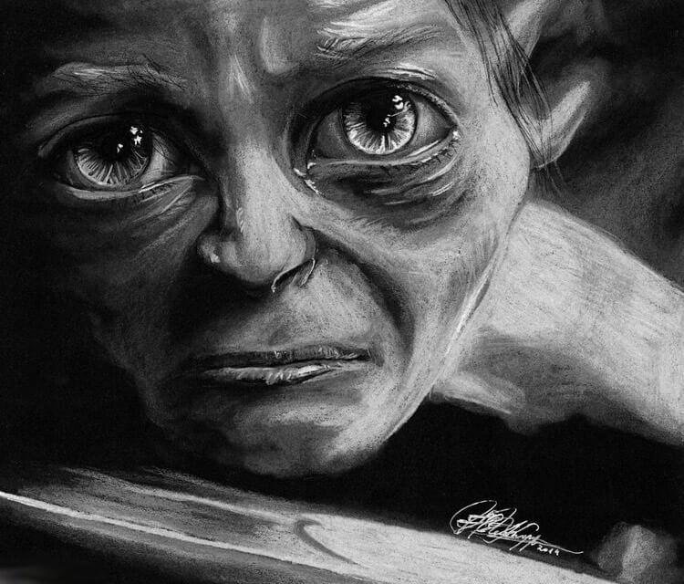 Smeagol drawing by Helene Kupp