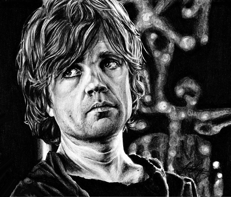Tyrion Lannister drawing by Helene Kupp