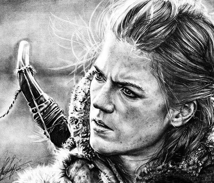 Ygritte from GoT drawing by Helene Kupp