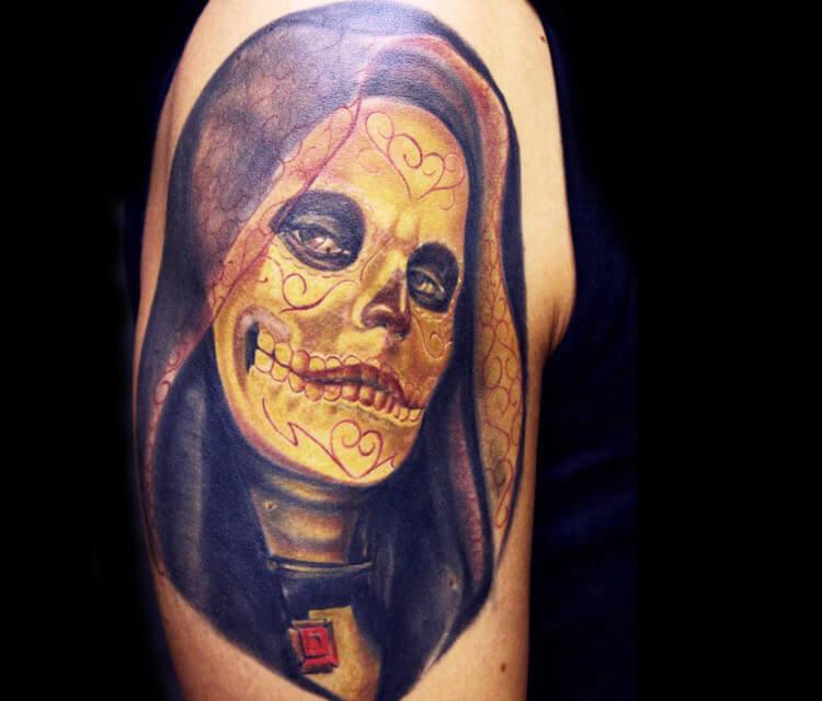 Muerte tattoo by Ivan Trapiani