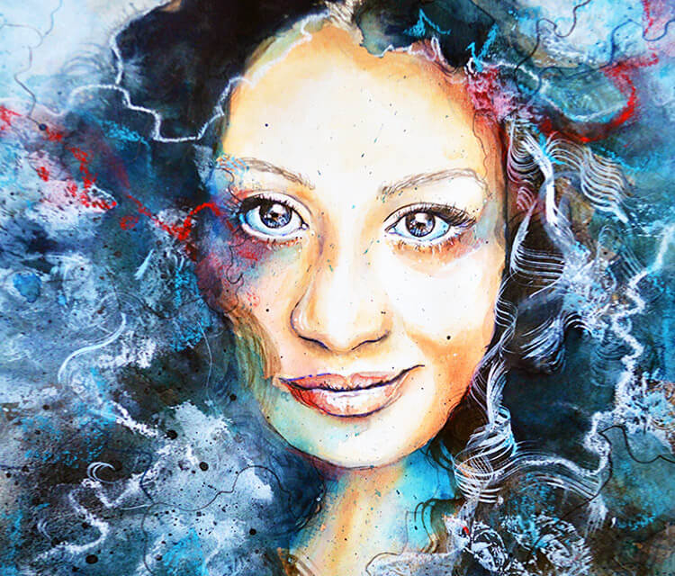 Diva painting by Jane Beata Lepejova
