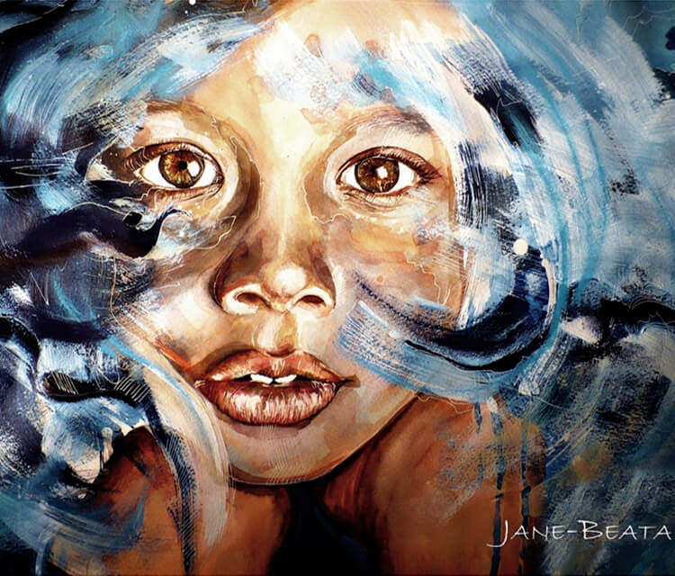 In my dreams painting by Jane Beata Lepejova