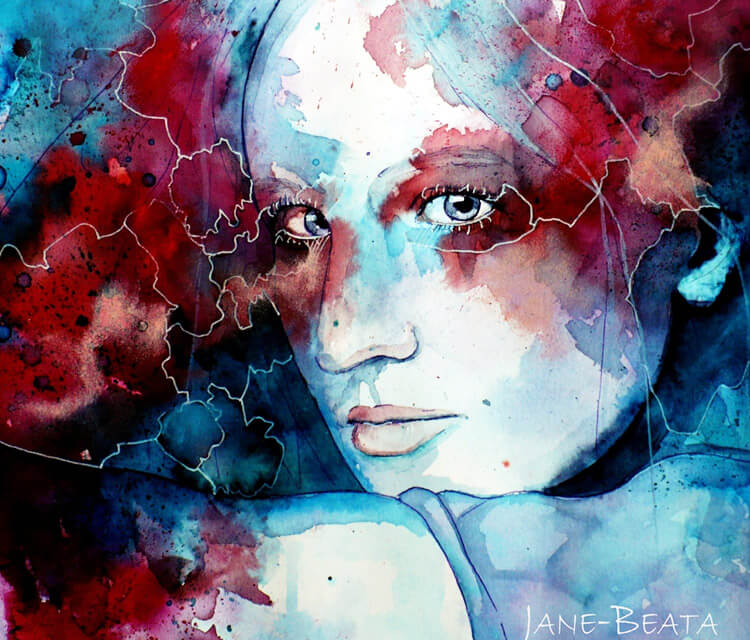The Other one watercolor painting by Jane Beata Lepejova