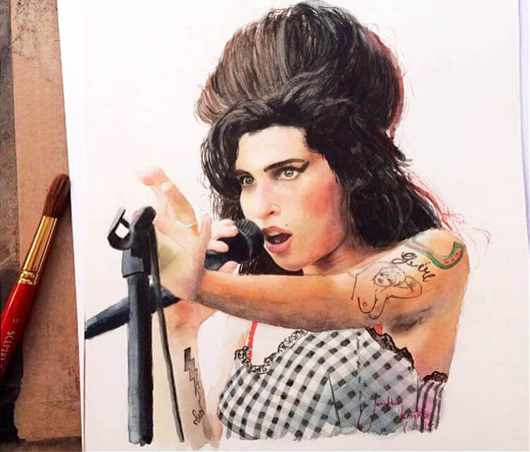 Amy Winehouse by Jonathan Knight Art