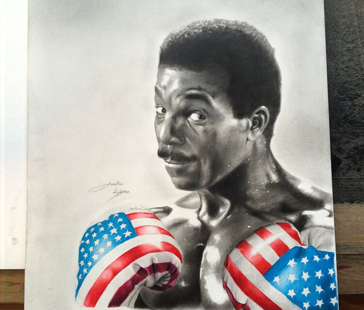 Apollo Creed from Rocky 3 by Jonathan Knight Art