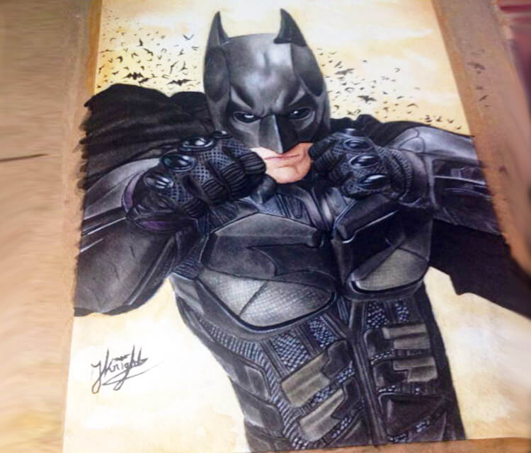 Batman marker drawing by Jonathan Knight Art