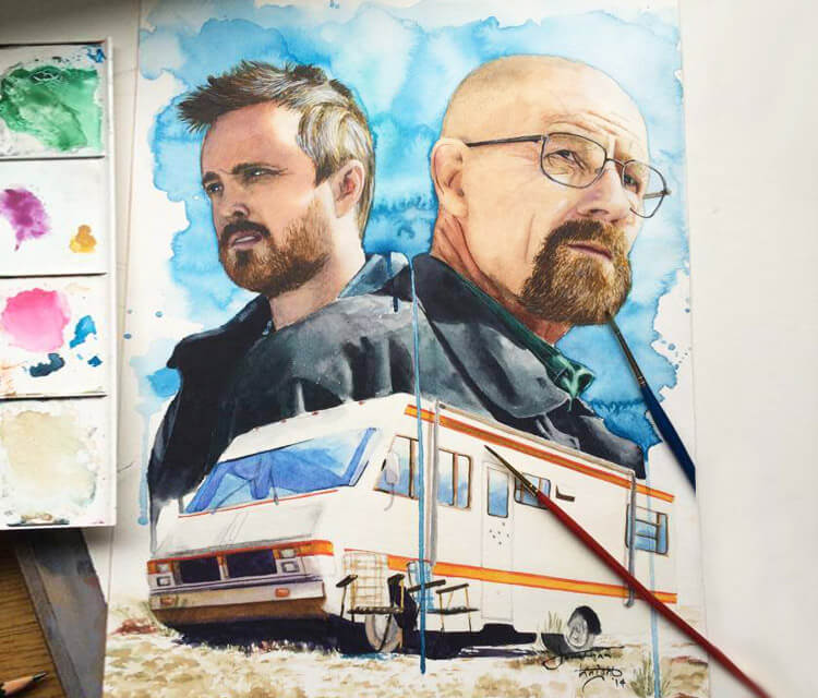 Breaking bad painting by Jonathan Knight Art