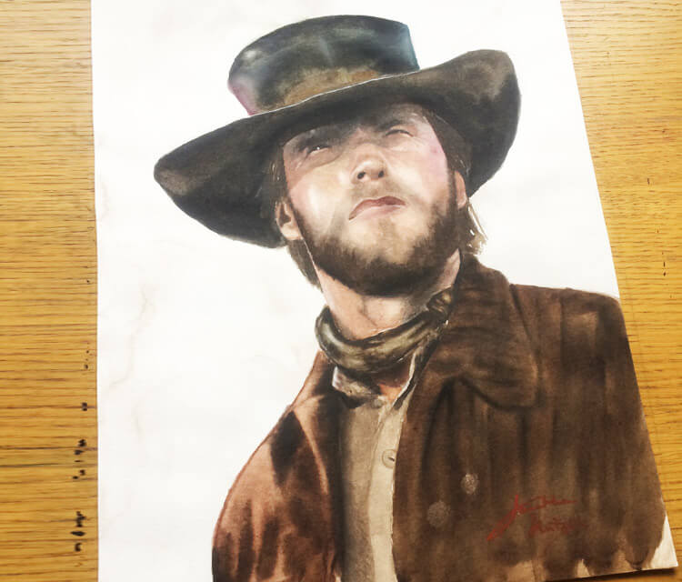 Clint Eastwood painting by Jonathan Knight Art