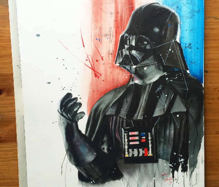 Darth Vader from Star Wars painting by Jonathan Knight Art