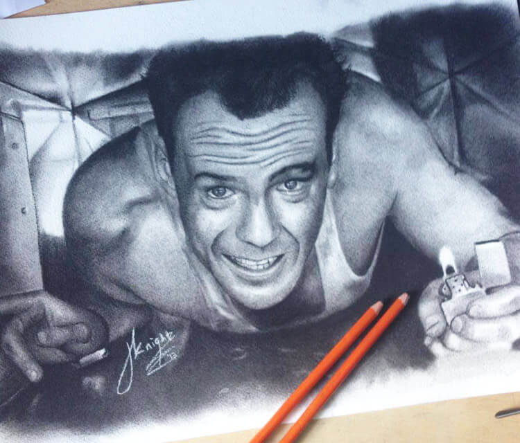 Die Hard drawing by Jonathan Knight Art