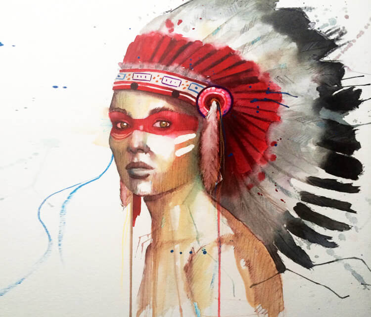 Indian Honor painting by Jonathan Knight Art