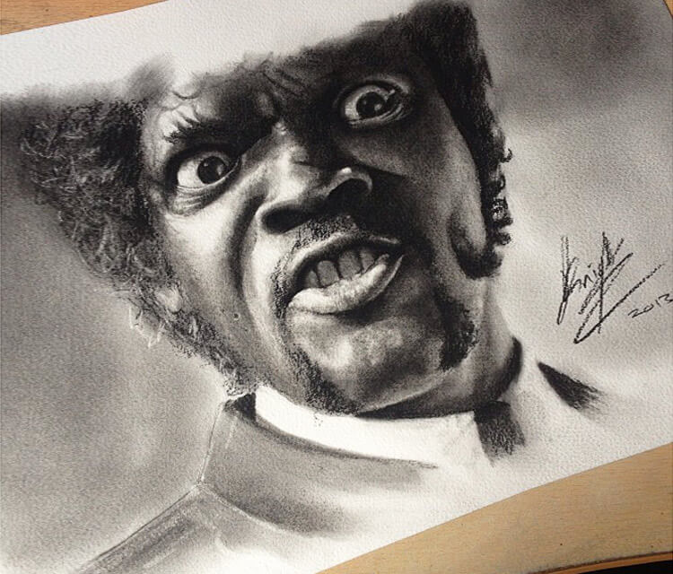 Samuel L. Jackson from Pulp Fiction by J. Knight Art