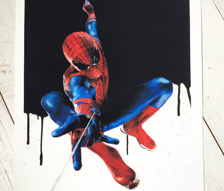 Spiderman movie mixedmedia by Jonathan Knight Art