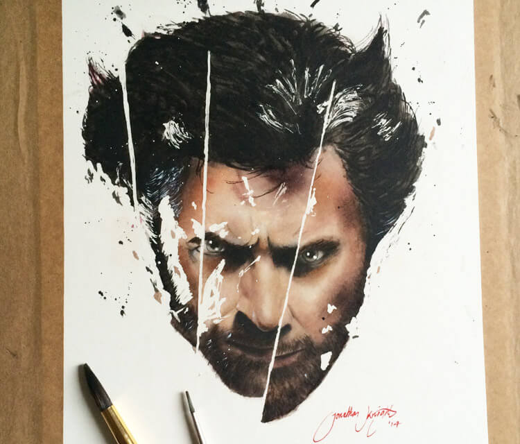 Wolverine from X-man painting by Jonathan Knight Art