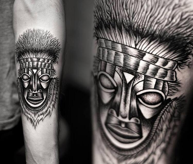 Dotwork tattoo by Kamil Czapiga