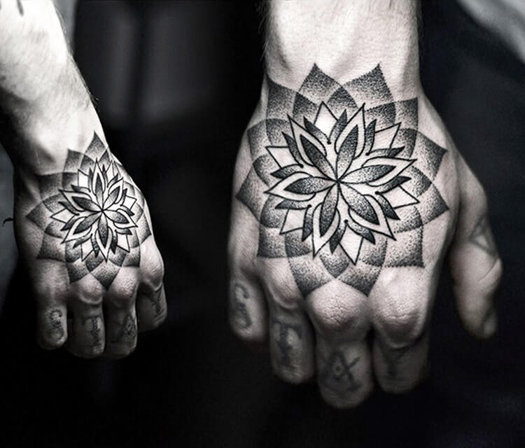 Hand dotwork tattoo by Kamil Czapiga