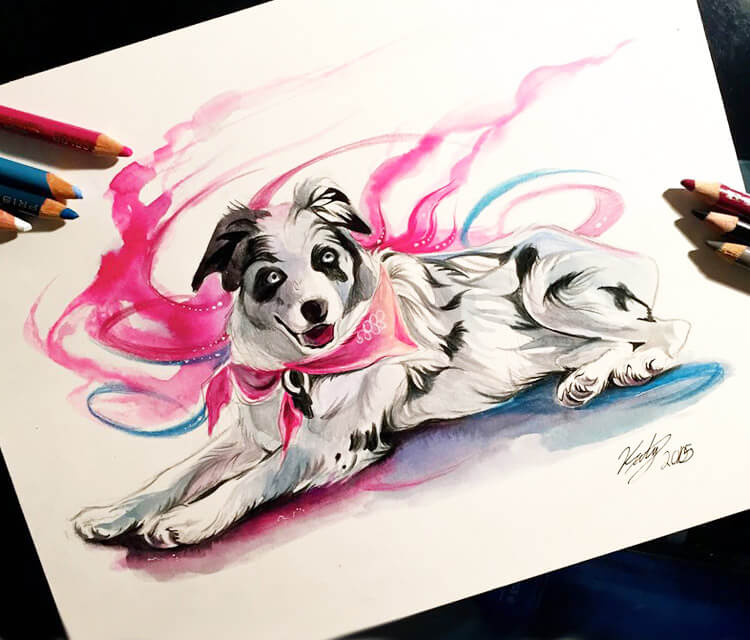 Maya drawing by Katy Lipscomb Art
