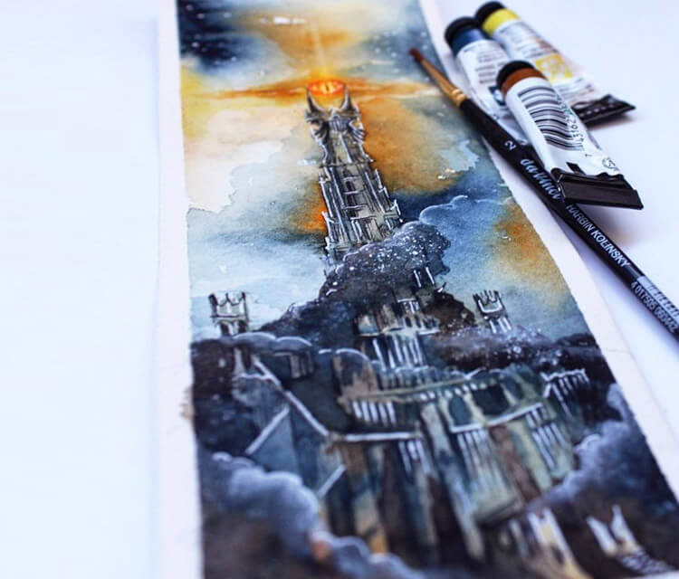 Barad Dur painting by Kinko White