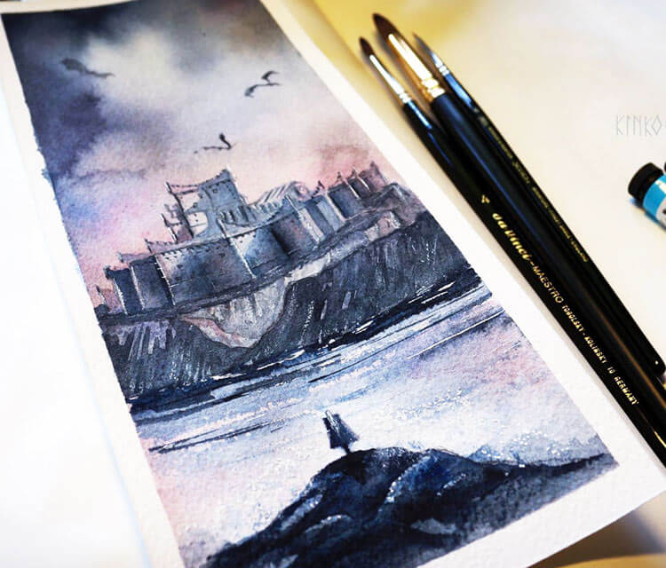 Dragonstone painting by Kinko White