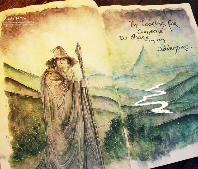 Gandalf the grey painting by Kinko White