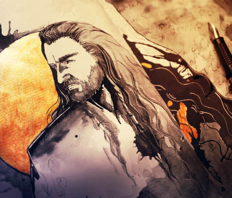 Thorin watercolor painting by Kinko White