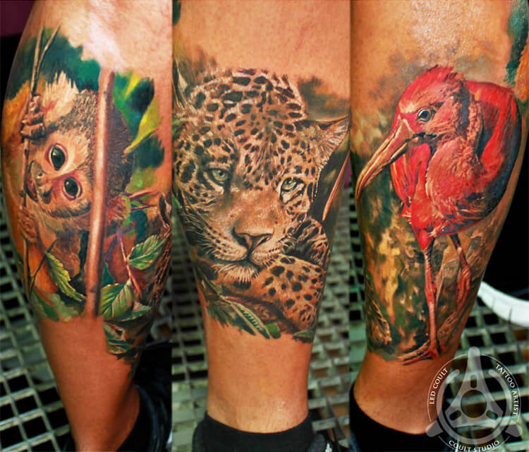 Animals tattoo by Led Coult