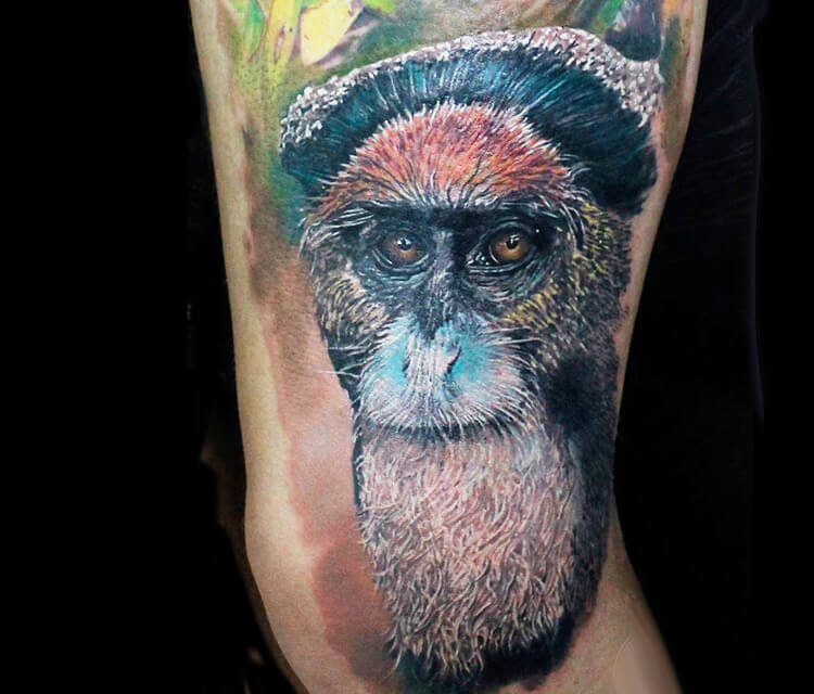 Ape Monkey tattoo by Led Coult