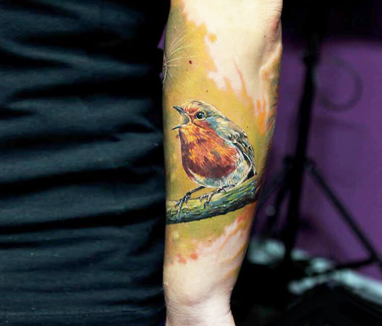 Bird tattoo by Led Coult