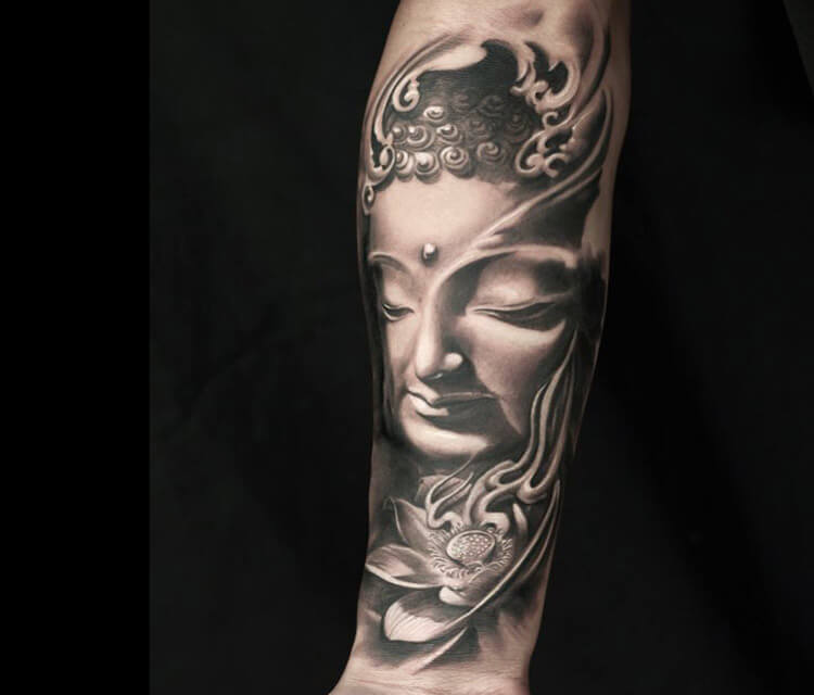Budha tattoo by Led Coult