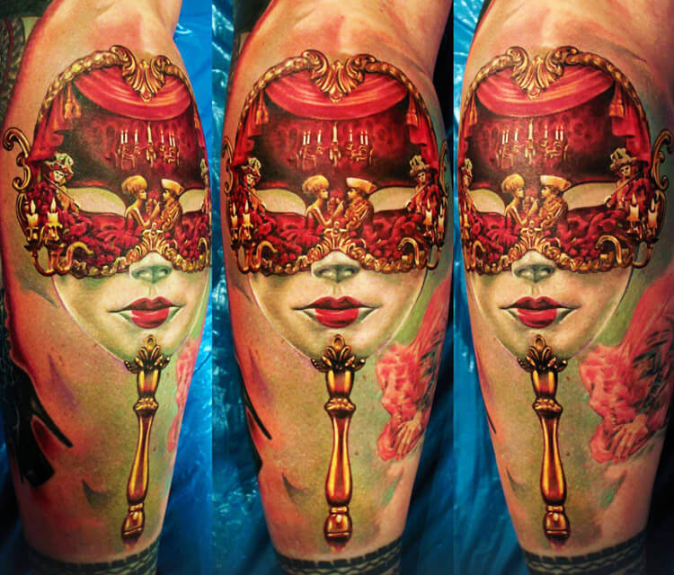 Carnival Mask tattoo by Led Coult