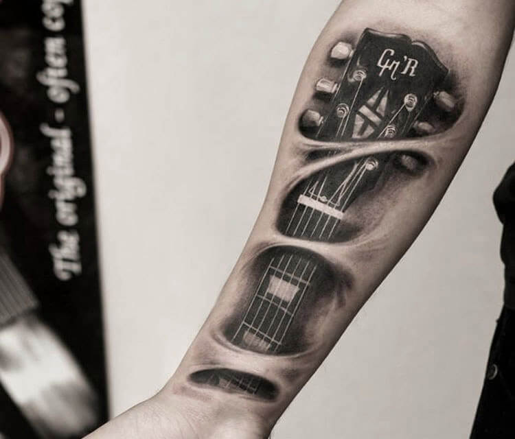 GnR guitar tattoo by Led Coult