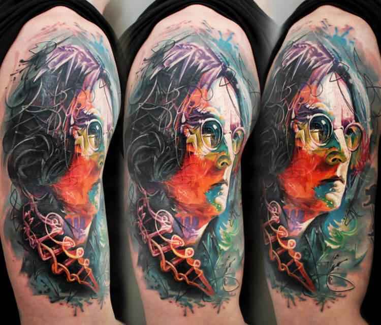 John Lennon tattoo by Led Coult