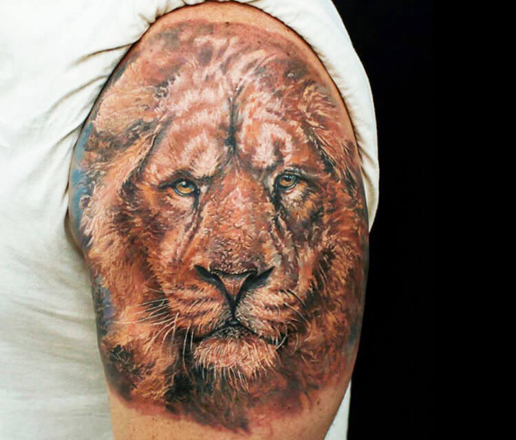 Lion 2 tattoo by Led Coult