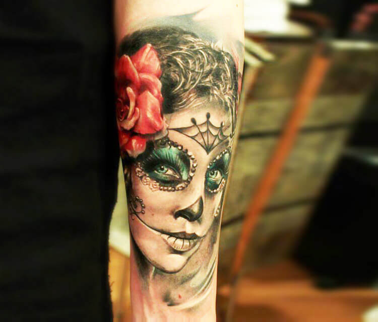 Muerte tricolor tattoo by Led Coult
