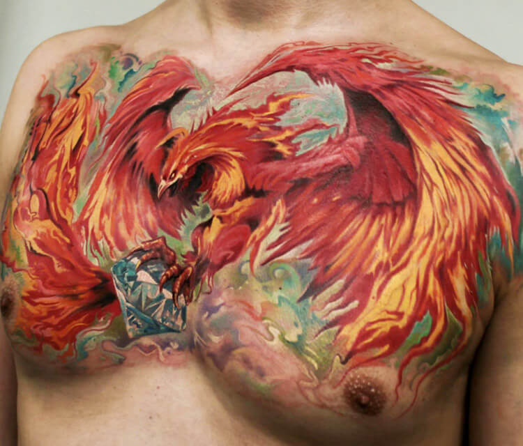 Phoenix tattoo by Led Coult