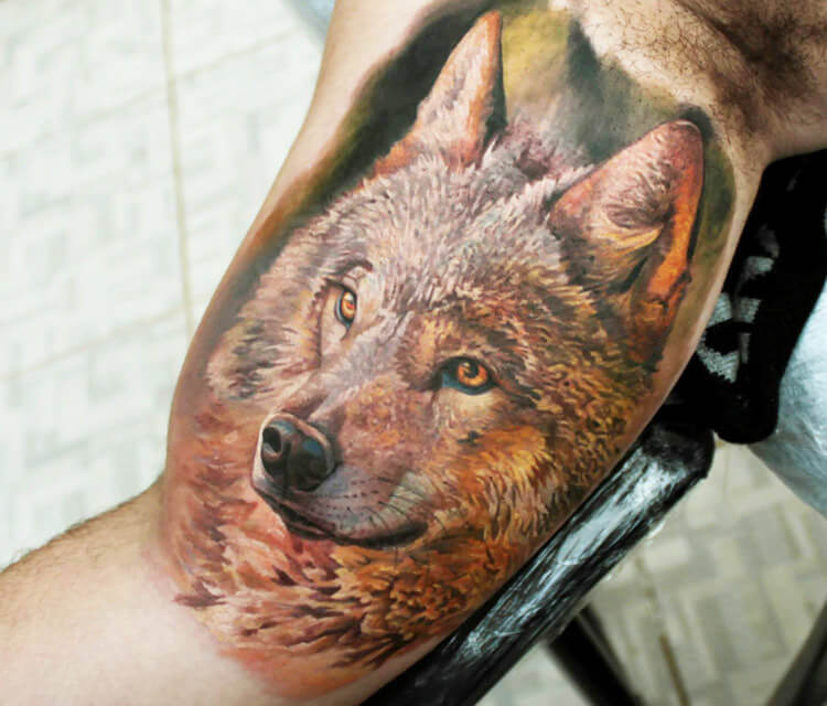 Wolf tattoo by Led Coult