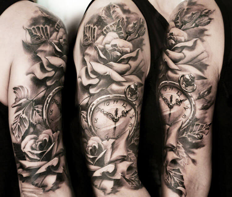 WWatch and rose tattoo by Led Coult