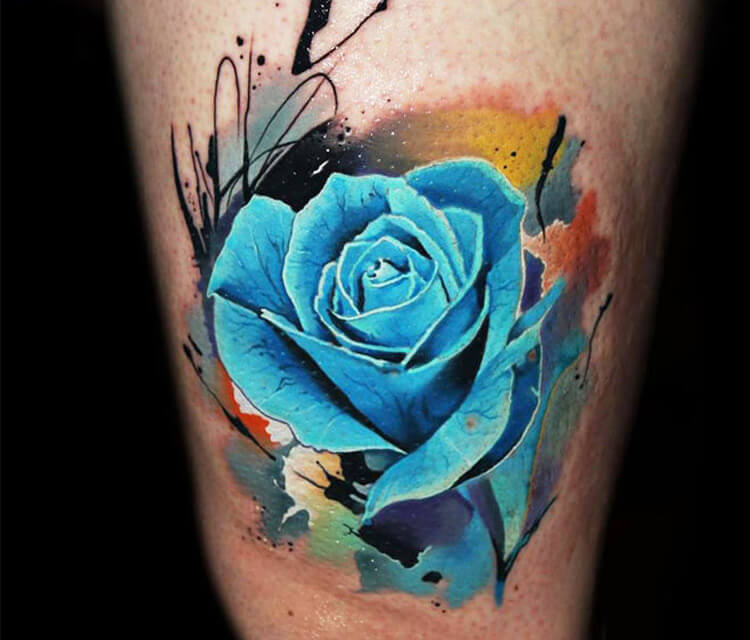 be66d08f7 Blue Rose tattoo by Lehel Nyeste | No. 1027