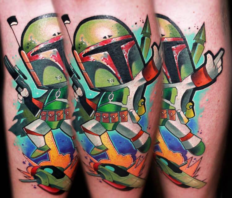 Boba Fett from Star Wars tattoo by Lehel Nyeste