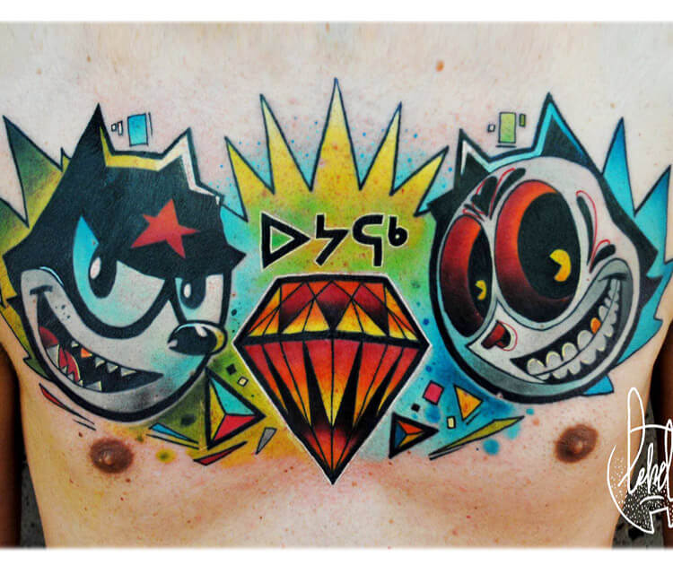 Chestpiece tattoo by Lehel Nyeste