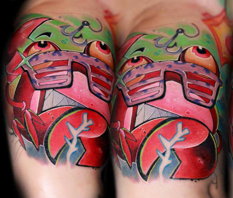 Crab guy from the sea project tattoo by Lehel Nyeste