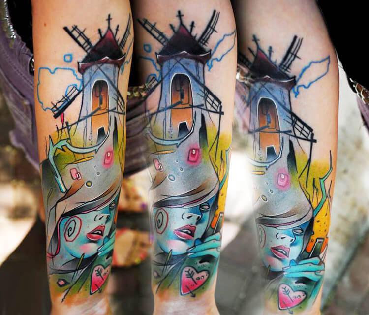 Eternal mills tattoo by Lehel Nyeste