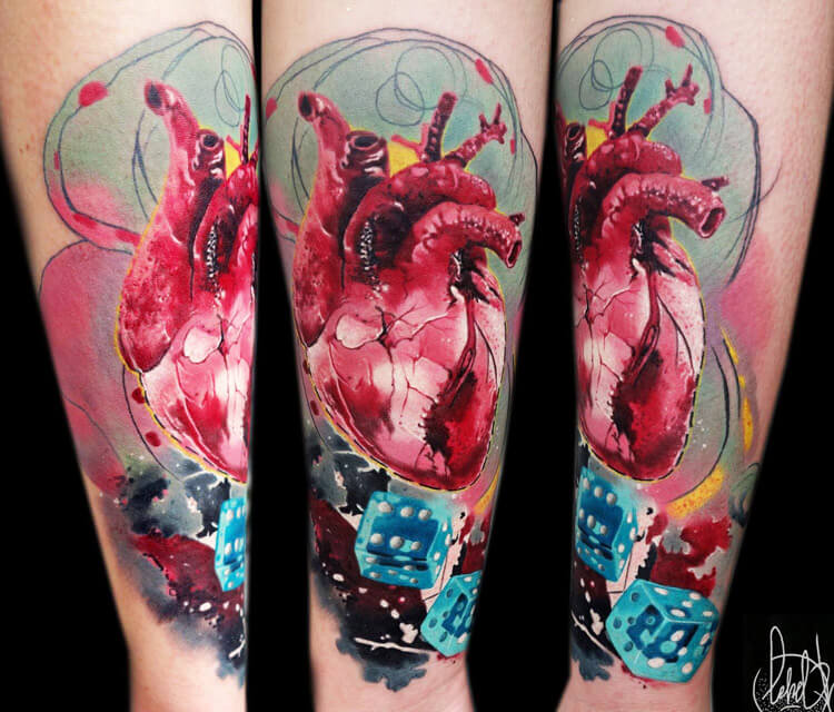 Gambler Heart tattoo by Lehel Nyeste