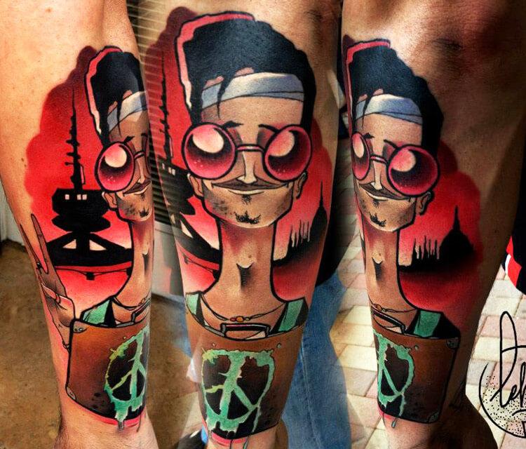 Ghetto Peace tattoo by Lehel Nyeste