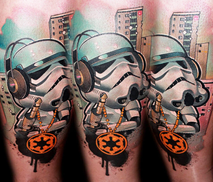 Ghetto Trooper tattoo by Lehel Nyeste
