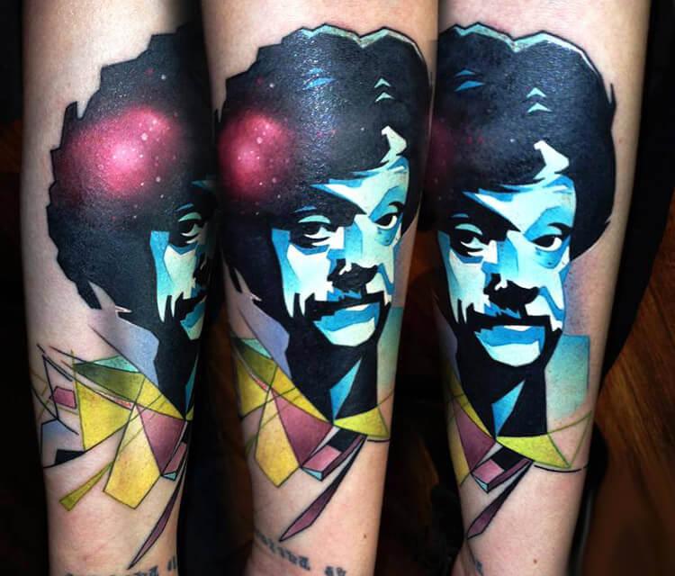 Kurt Vonnegut tattoo by Lehel Nyeste